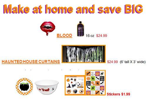 Make at home and save big halloween