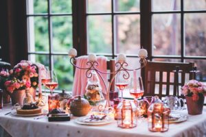 Christmas decorating ideas. Christmas party table
