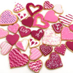 All natural Valentine's cookie candy decorations