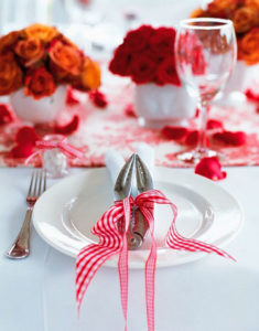 table setting (Red delicious re-purposed)