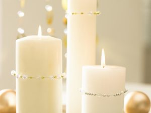 white-candles-with-ornaments (red delicious re-purposed)