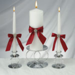 white-candles-with-ribbons (Red delicious re-purposed)